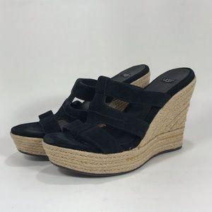 Ugg Tawnie Espadrille Wedge Heel Sandals Size 8
